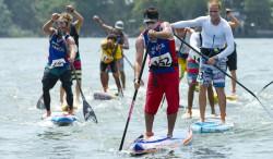 EPIC 18 KM MEN'S SUP AND PADDLEBOARD LONG DISTANCE RACE ON LAKE NICARAGUA Image Thumb