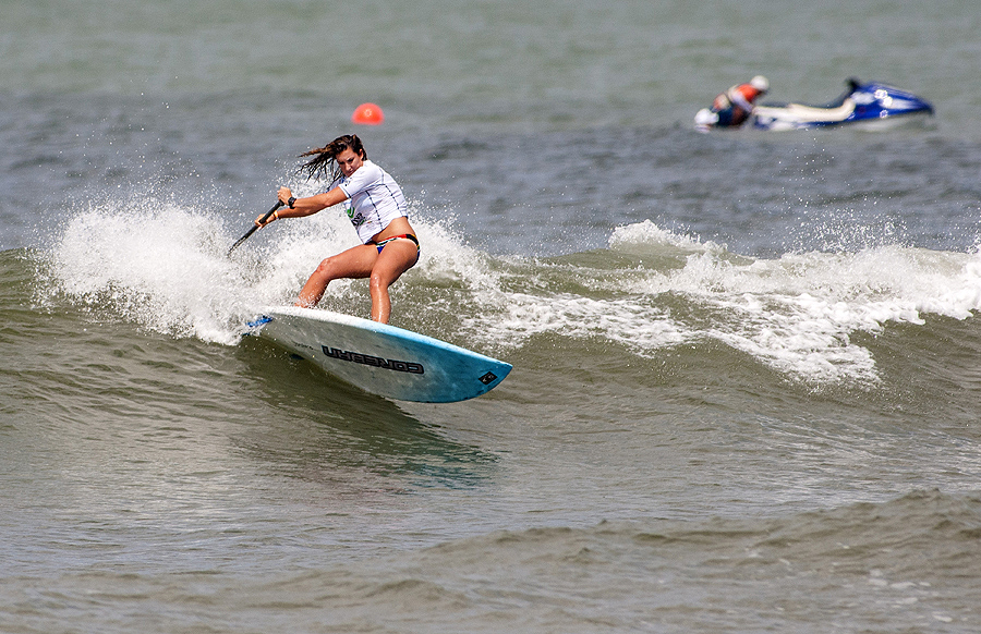 South Africa's Tarryn Kyte dropped to the Repechage Round today in a tough heat, but is determined to make her country proud and win a medal. Photo: ISA/Rommel Gonzales