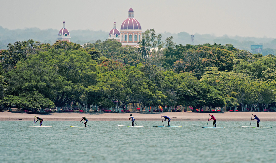 The historical, colonial city of Granada, founded in 1524, located on the north-west shore of Lake Nicaragua, is the official host city of the 2014 ISA World SUP and Paddleboard Championship. Photo: ISA/Michael Tweddle