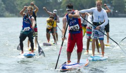 EPIC 18 KM MEN'S SUP AND PADDLEBOARD LONG DISTANCE RACE ON LAKE NICARAGUA Image Thumb