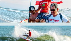 TAHITI'S POENAIKI RAIOHA AND USA'S EMMY MERRILL ARE THE 2014 ISA WORLD SUP SURFING CHAMPIONS Image Thumb