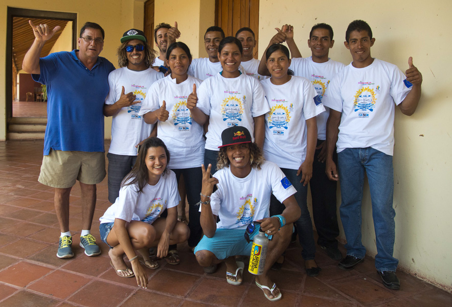 The first ever Nicaraguan SUP and Paddleboard Team was present at the Official Press Conference of the 2014 ISA World SUP and Paddleboard Championship. Photo: ISA/Michael Tweddle